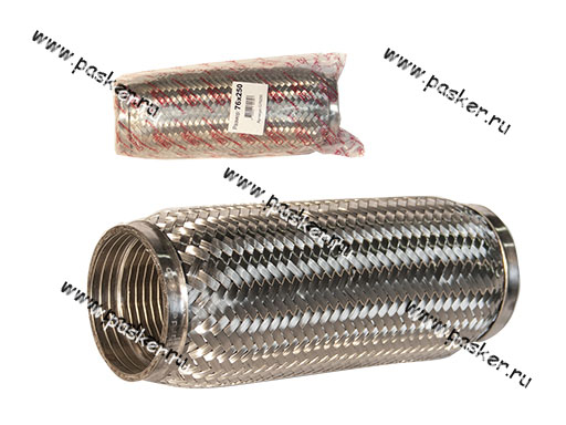 Гофра глушителя 76x250 Garde 3х слойная Interloсk G76250