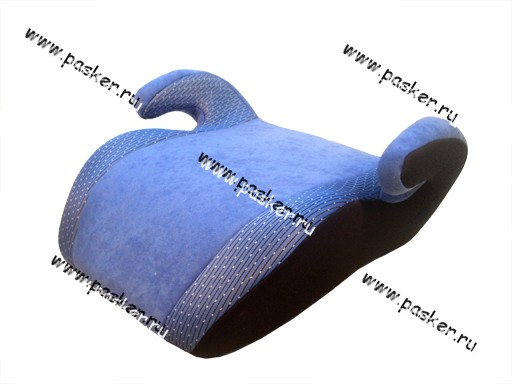Кресло детское SIGER Бустер Мякиш Плюс синее от 22-36кг