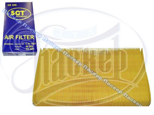 Фильтр воздушный AUDI 80 91-94 100 90-94 A6 95-97 VW Passat 88-96 SCT SB206