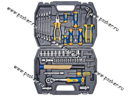 Инструмент KRAFT  56 предметов 1/2-1/4 кейс пластик 700303