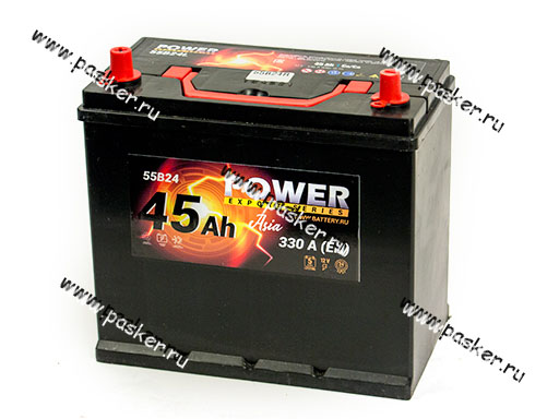 Аккумулятор POWER 45Ач EN330 ASIA 238х129х227 обр/п
