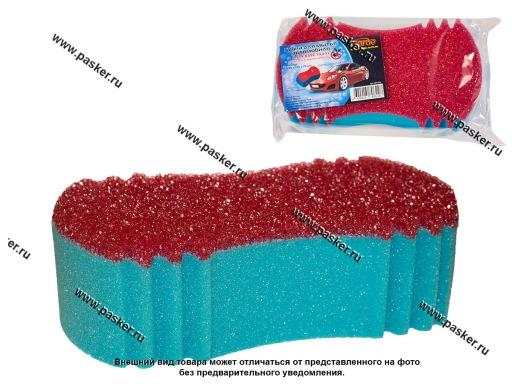Губка  Garde для мытья автомобиля Арахис MAXI c cеткой удаления насекомых 245х135х75мм GP1670